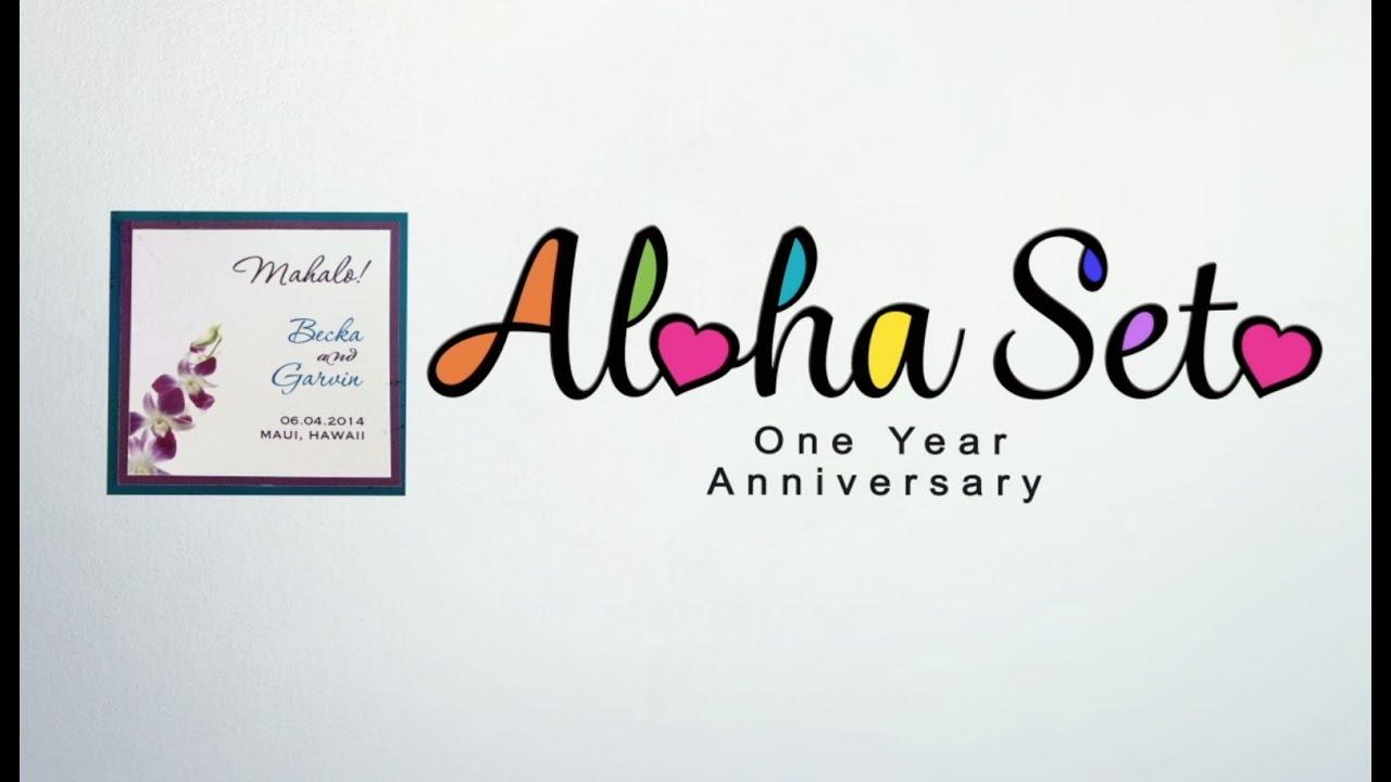 happy one year hawaii wedding anniversary 1st dance remix