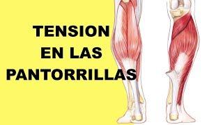 En la pantorrilla tensión muscular