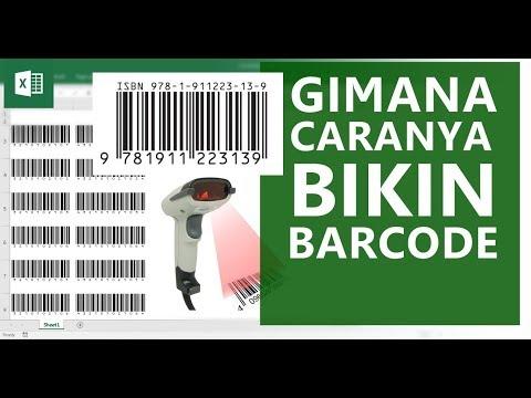 Cara membuat barcode harga di ms word.