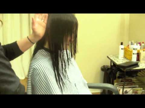 V Back Long Layered Haircut Face Framing Hair Tutorial