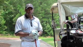 Victor Green and Jared Ginsberg of Class Act Sports at the Standard Club Golf Course in Atlanta