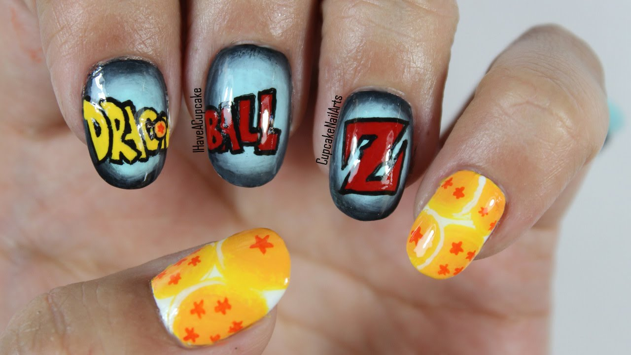 Dragon Ball Z Nails - Anime Nail Art - YouTube