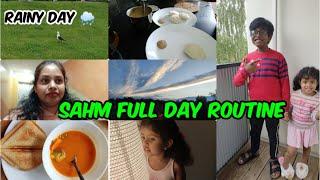 #Vlog || SAHM Full day routine || Enta pani chesina end undadu anipistadi naku sometimes😒 || 🌧 day