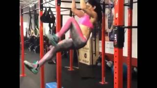 Fitness Frau die es drauf hat
