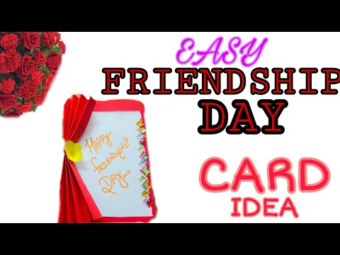 HOW TO MAKE EASY FRIENDSHIP CARD || FRIENDSHIP DAY SPECIAL || MY FIRST VIDEO