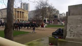 The White Royal Horse Announce That the queen Is In The Palace