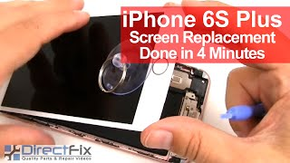 How To: iPhone 6s Plus Screen Replacement done in 4 minutes