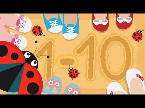 Вчимося рахувати до 10! Цифри для самих маленьких! Розвиваючі мультфільми для дітей