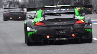 BMW Z4 GT3 RAW Sound at Monza Circuit!!