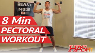 8 Minute Killer Chest Workout - Hasfit Chest Exercises Routine - Pectoral Workouts - Chest Work Out