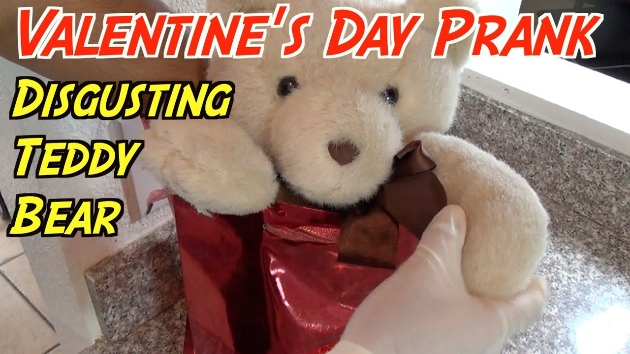 Disgusting Teddy Bear Guts Prank  Valentineu0027s Day Pranks   YouTube