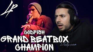 CODFISH   Grand Beatbox Battle Champion 2018 *Reaction*   FIRST TIME HEARING CODFISH!!!