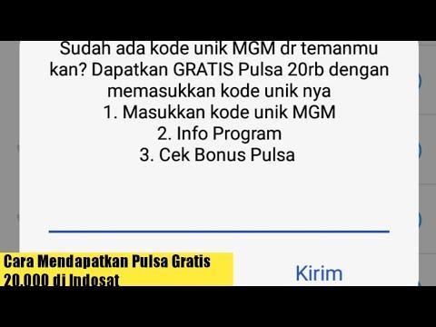 Cara Mendapatkan Pulsa Gratis Indosat Rp. 20.000 Tanpa Aplikasi Tambahan
