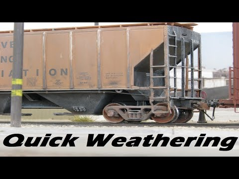 simple-quick-weathering---covered-hopper-model-railroad