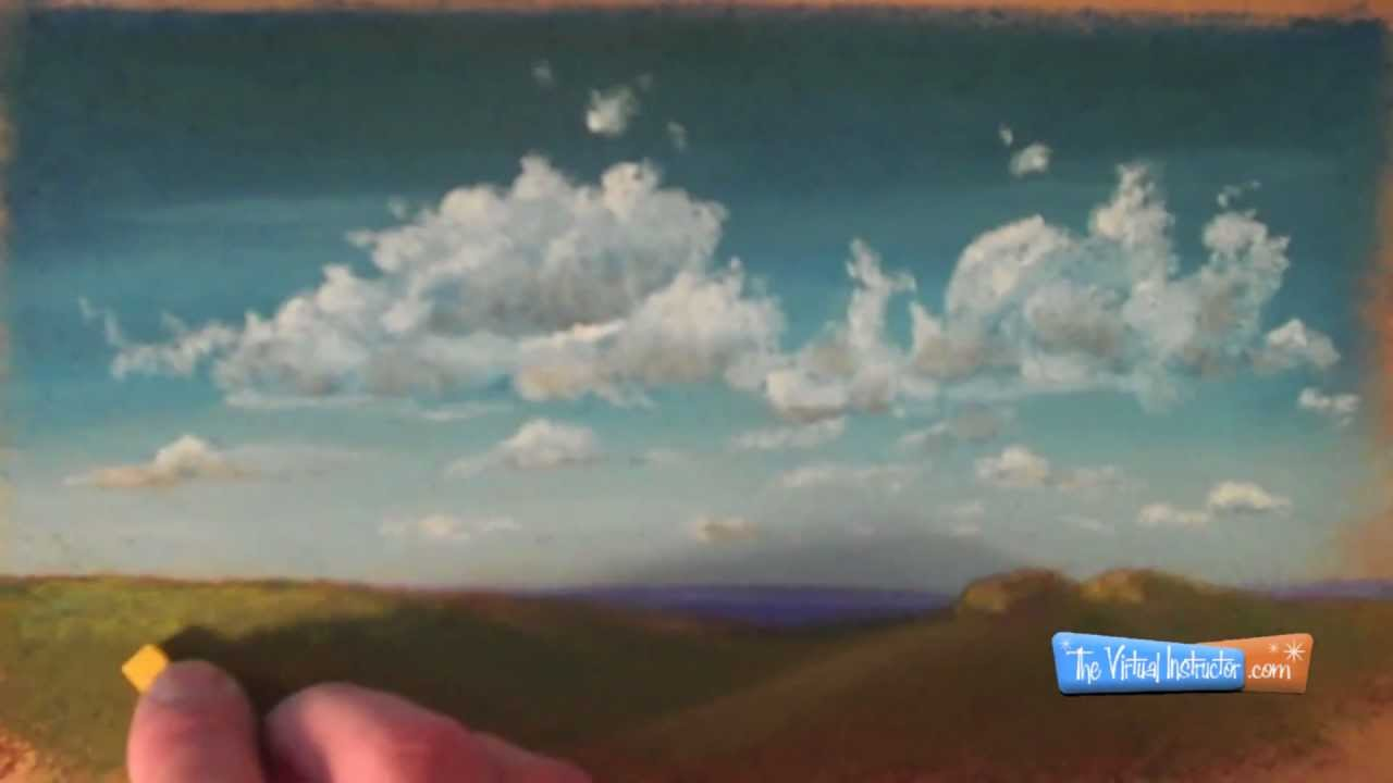 How To Draw Clouds With Chalk Or Soft Pastels