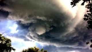 Waterspout Tornado in Oldsmar, FL - Funnel Forming 7-8-13