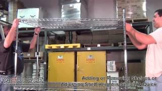 Metro Super Adjustable 2™ Super Erecta® Mobile Wire Shelving Unit Assembly - Q Source, Inc.
