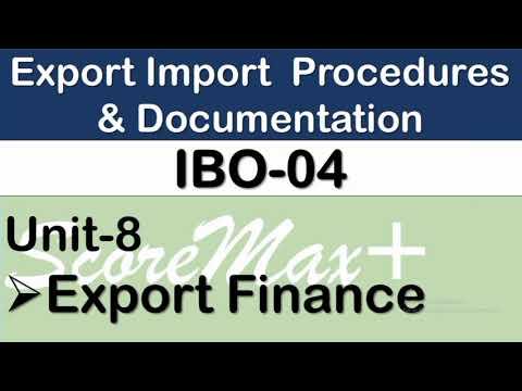 IBO 4 II Unit  8 II Export Finance II Scoremax+