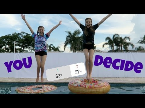Don't Choose the Wrong Pool Float (You Decide) ~ Jacy and Kacy