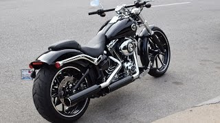 2015 Harley Davidson Breakout - Start up and first ride.