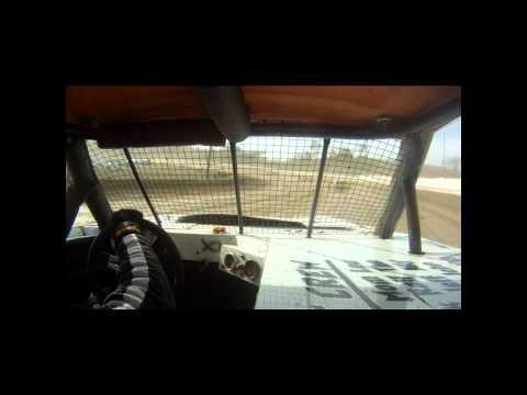 Brett McDonald heat race incar camera Pittsburgh's Pennsylvania Motor Speedway 4/29/12