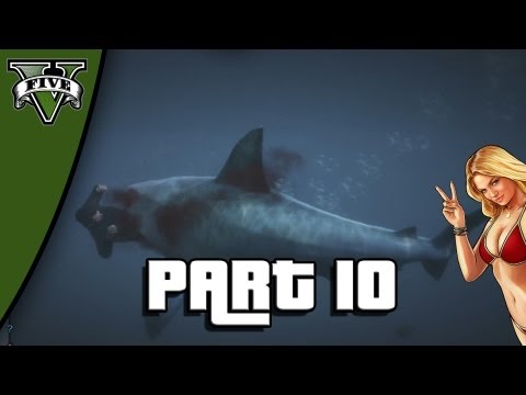 Let's Play Grand Theft Auto 5 - Part 10: Shark Attack and Tennis with Amanda