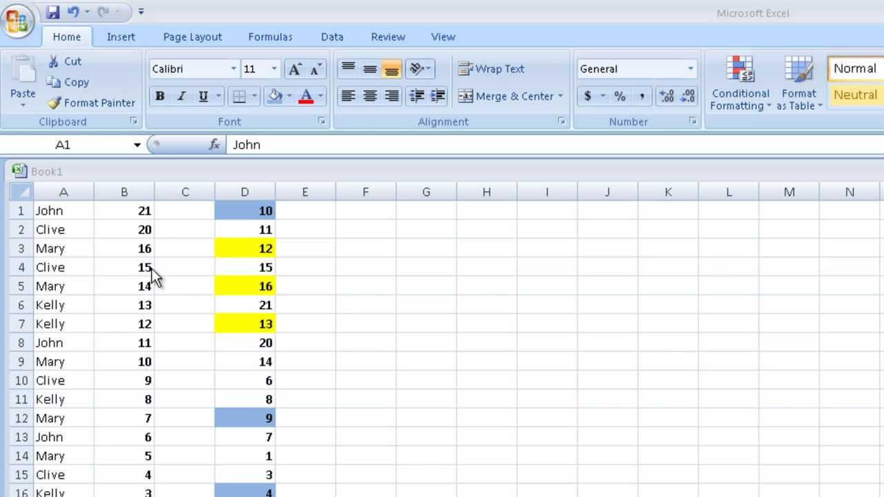 Basic Excel Tutorial - Sort a Column in Excel in Ascending or Descending  Order