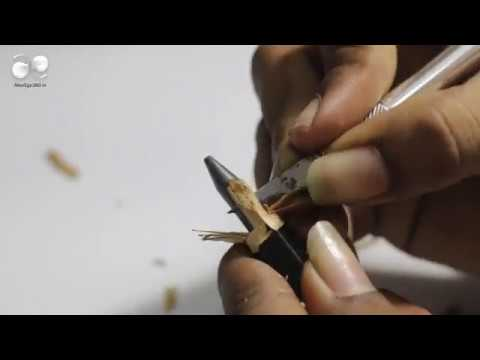 Pencil Carving | Art on Pencil | Pencil Carving – Making a Micro Sculpture Logo – AE – alterego360 thumbnail