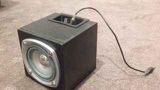 How To Make A Mini Subwoofer Box Part 2 (bluetooth)