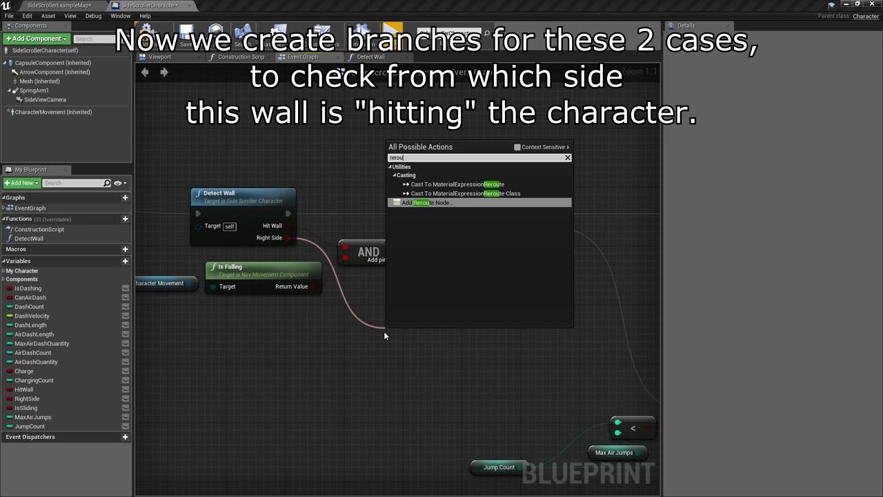 UE4 Beginner Mega Man X Mechanics Tutorial Part 5: Wall Jump