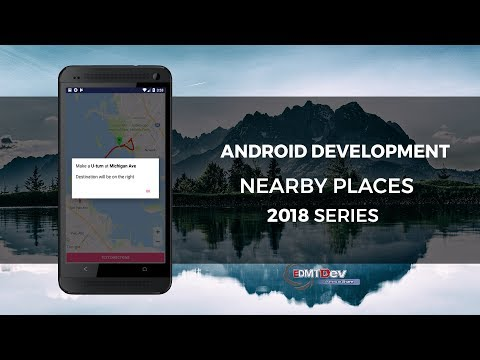 Android Development Tutorial - Google Nearby Places Part 4 - Show Text Directions