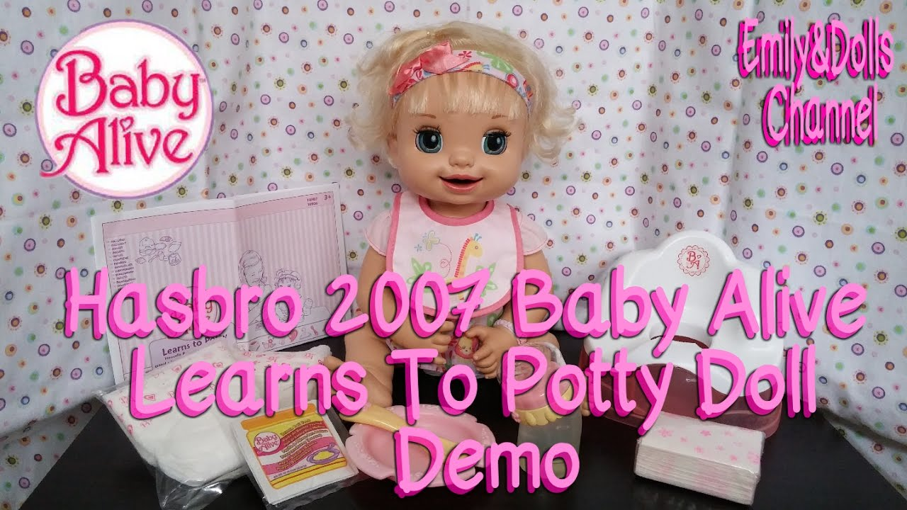Hasbro 2007 Baby Alive Learns To Potty Doll Demo Youtube