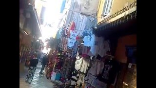 Corfu old town, shopping in the narrow streets of Corfu with KCTV