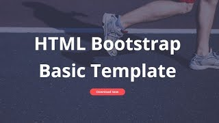 Bootstrap Basic Template - Free HTML Website Templates thumbnail