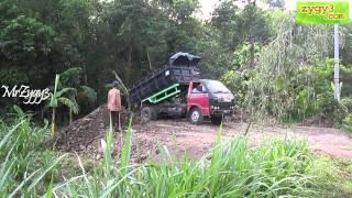 Dump Truck Toyota Dyna Rino Unloading Dirt