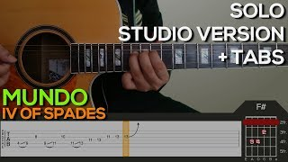 IV of Spades - Mundo SOLO [Studio Version] Guitar Tutorial with (TABS on SCREEN)