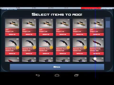 Удвоение вещей Case Clicker на последней версии Android.