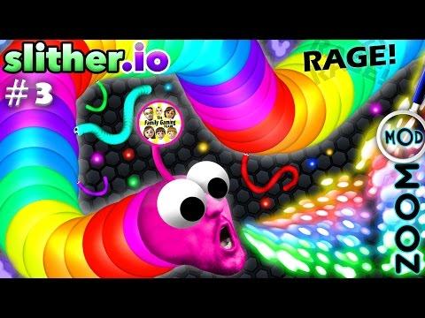 SLITHER.io #3: Epic RAGE Rages EPICALLY w/ RED FACE FGTEEV D