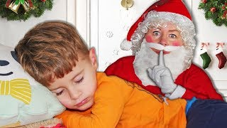 Are You Sleeping Romeo and Ronaldo Pretend Play Cookies on Christmas Morning for Santa