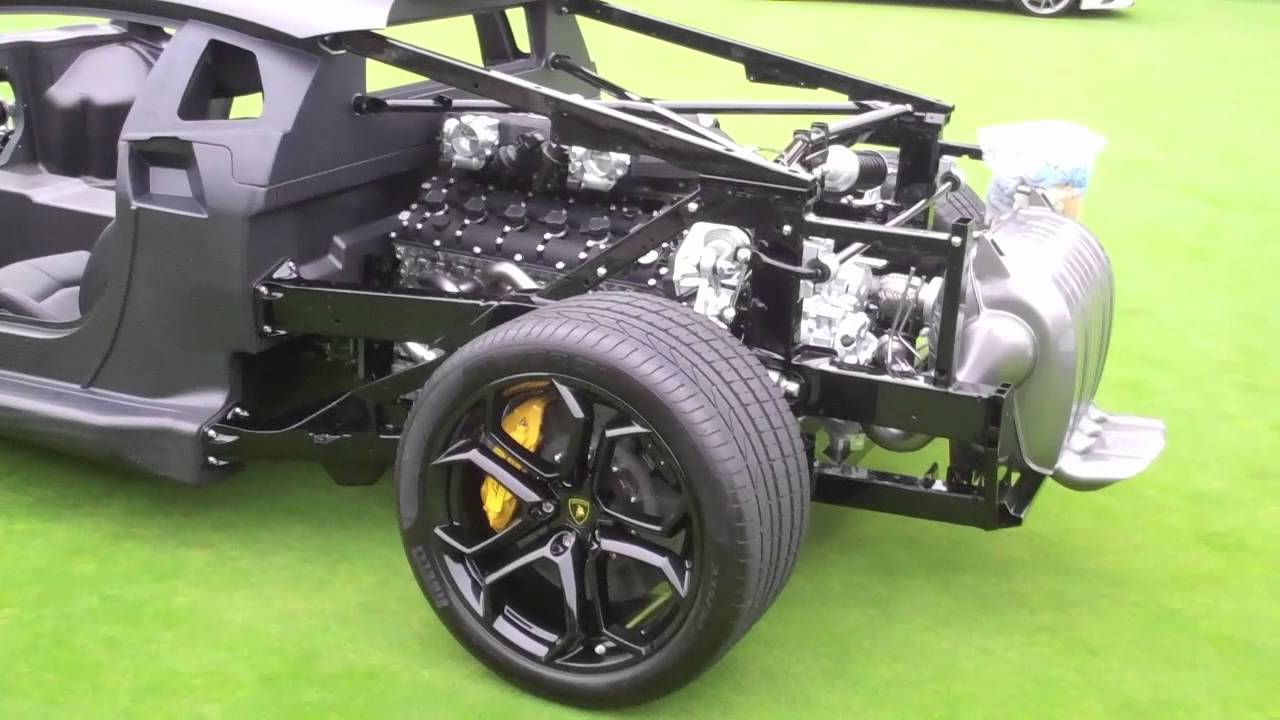 Lamborghini Aventador With Naked Chassis Youtube