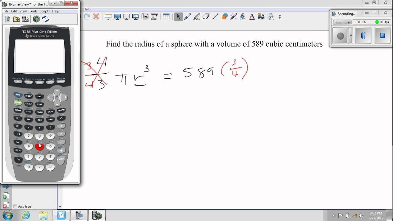 Ha2t Ch 6 Practice B #31 Find The Radius Of A Sphere Given The Volume