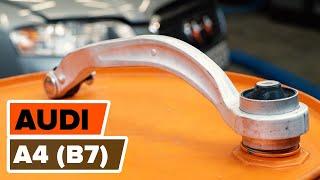 Cómo cambiar Muelle pinza de freno AUDI A4 (8EC, B7) - vídeo gratis en línea