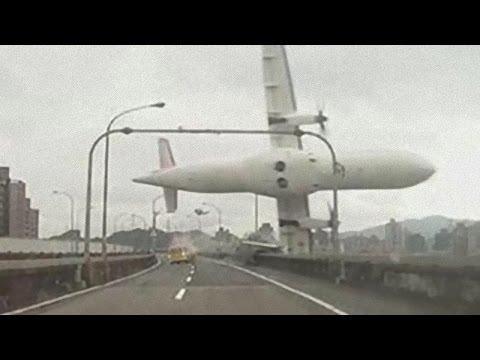 Авиакатастрофа на Тайване. Самолёт упал в реку 04 февраля 2015