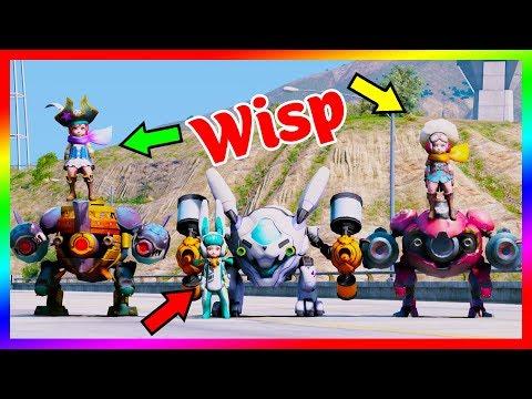 GTA 5 Mods - Wisp Thỏ Siêu Quậy Cùng Siêu Robot   Liên Quân Mobile Mùa 8   GTA5MODAZ
