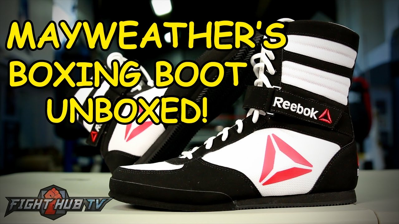 verano académico Bebé  Floyd Mayweather's Boxing Shoes Unboxed! - Fight Hub Unboxing - YouTube