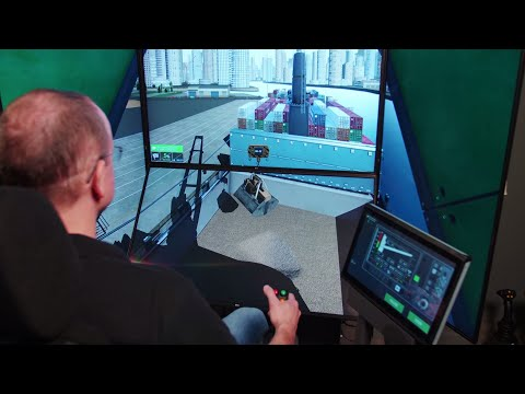 Ship Pedestal Crane Simulator | SPC Simulator | CM Labs Simulations