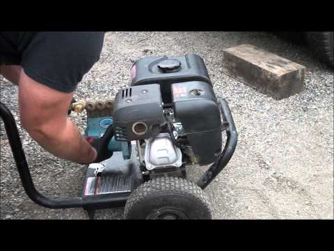 PRESSURE WASHER WATER PUMP REMOVAL: How to repair a pressure washer and remove the water pump
