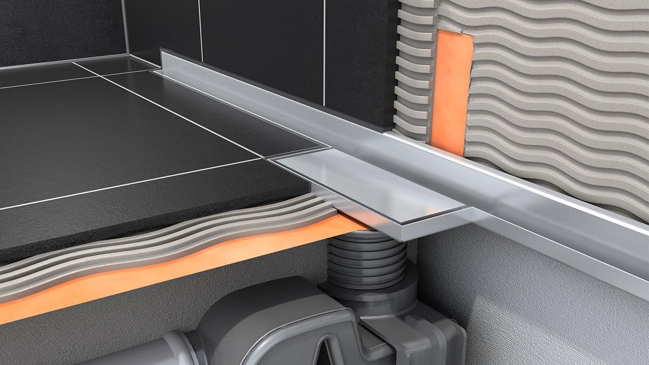 Linear Shower Drain Installation Easy Drain Waterstop