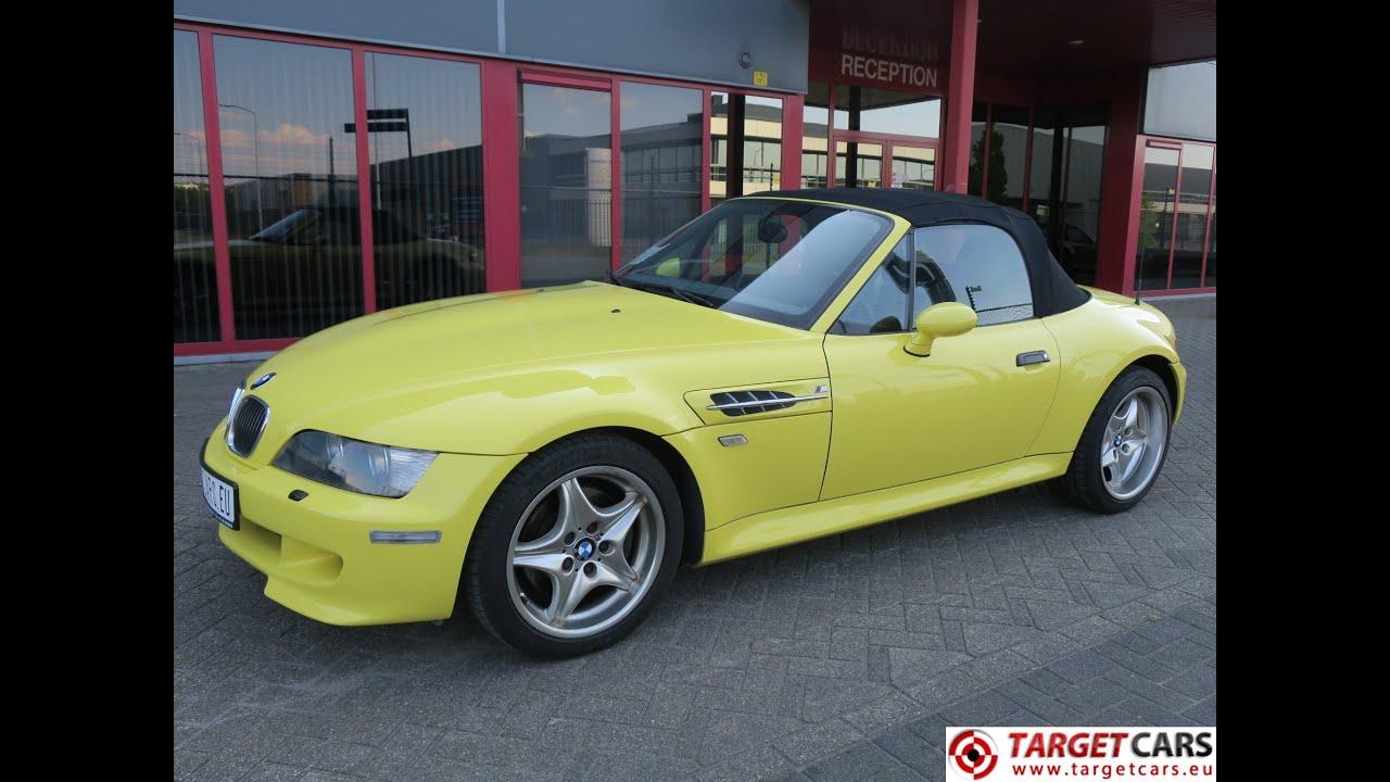 750352 Bmw Z3m Cabrio 3 2l 321hp S50 M Roadster 06 01 Yellow 105284km Lhd Youtube