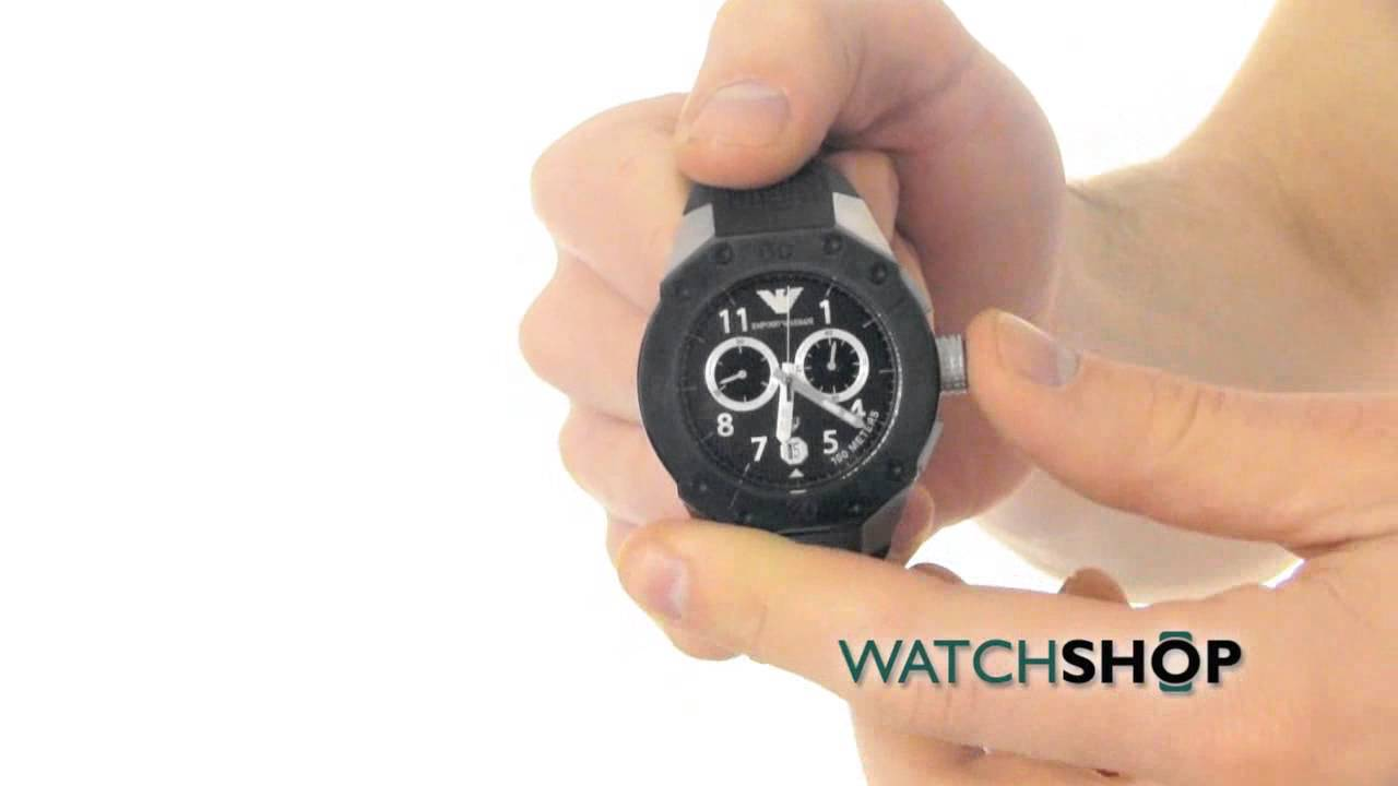ea4ed11f0f293 Emporio Armani Men s Chronograph Watch (AR0665) - YouTube